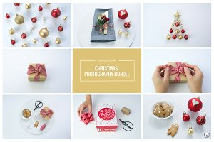 Christmas Red & Gold Stock Photos