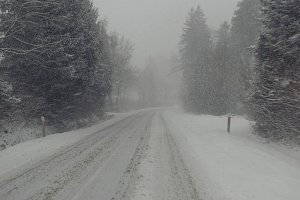 Snowstorm on the road 1