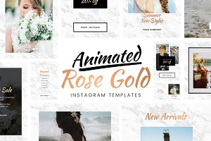 Animated Gold Instagram Templates