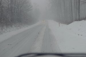 Snowstorm on the road 2