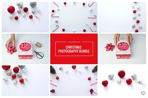 Christmas Red & Silver Stock Photos
