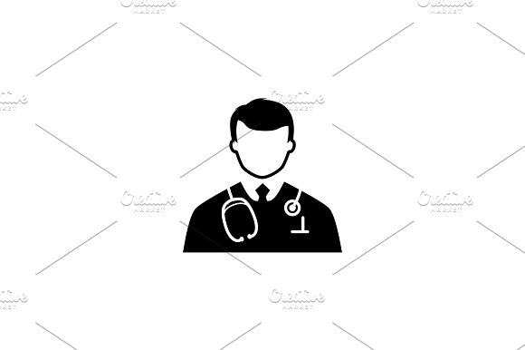Doctor Icon Flat Design