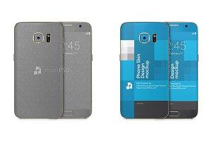 Samsung Galaxy S7 Mobile Skin Mockup