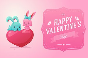 Happy Valentine's Day cards (vector)