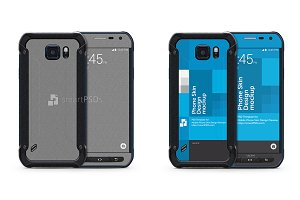 Galaxy S6 Active Mobile Skin Mockup