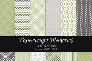 Patterned Paper - Leaves & Stones