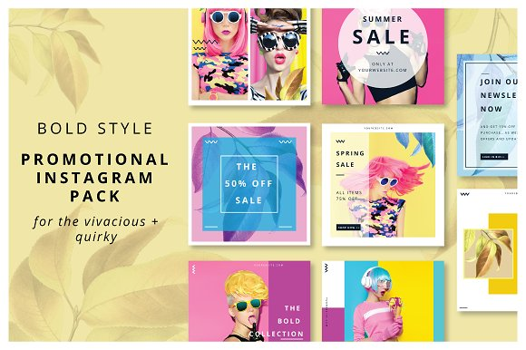 Bold Style Instagram Promo Pack