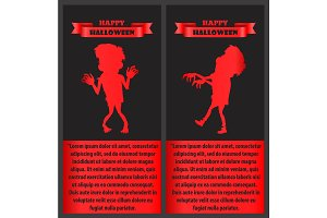 Happy Halloween Congratulation Poster with Monster