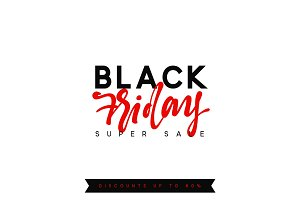 Black Friday sale, banner, poster advert. Card offert promotion design
