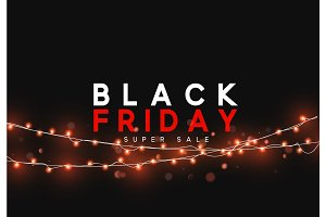 Black Friday sale, banner, poster advert.