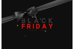 Black Friday sale, banner, poster, logo.