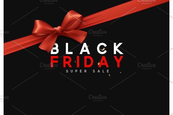 Black Friday Sale Banner Poster Logo