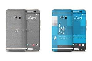 HTC 10 Mobile Skin Design Template