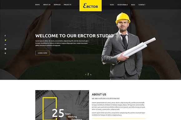 Erctor Architect HTML Template