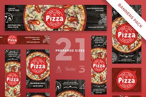 Banners Pack | Pizza