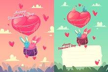 Happy Valentine Day ( 2 cards )