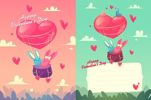 Happy Valentine Day ( 2 cards )