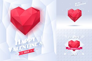 Happy Valentine's cards (3 cards)