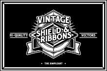 Vintage Shield & Ribbons