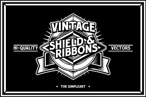 Vintage Shield & Ribbons