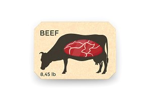 Meat Packaging Vector