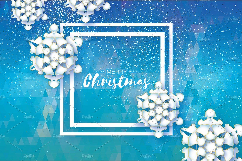 Origami Snowfall. Merry Christmas Greetings card. White ... - photo#16