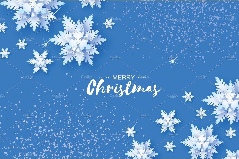 Origami Snowfall. Merry Christmas Greetings card. White ... - photo#9