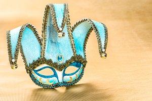 Venetian carnival mask harlequin