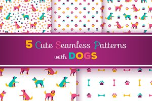 5 Patterns with Dogs