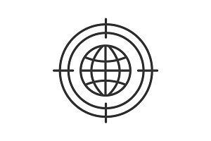 Searching world wide web linear icon