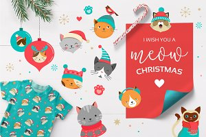 Cute Christmas Cats Bundle