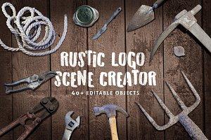 Mini Rustic Logo Scene Creator