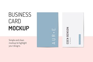 Aura Business Card MockUp's