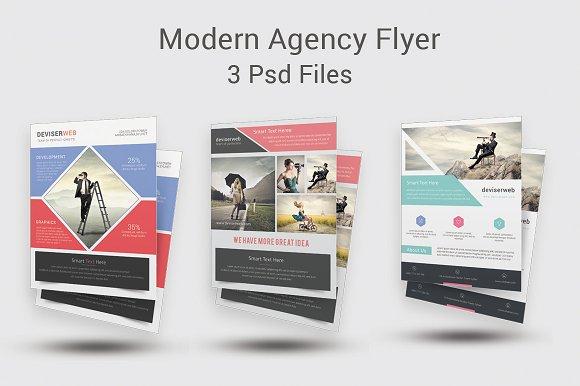 modern agency flyer templates flyer templates creative market