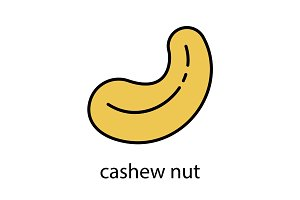 Cashew nut color icon