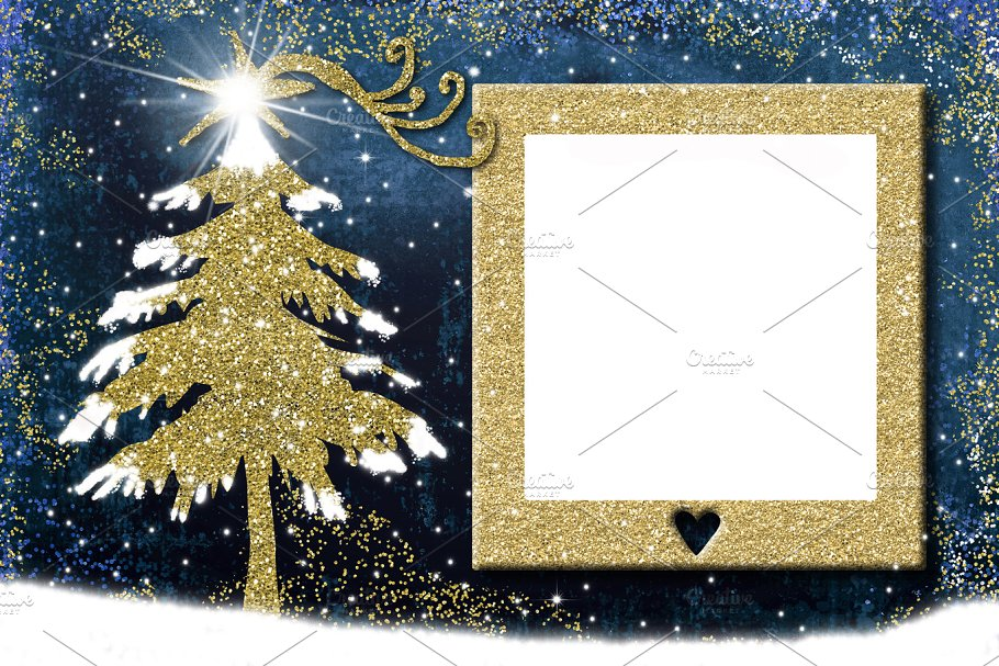 Photo frame Christmas cards ~ Holiday Photos ~ Creative Market