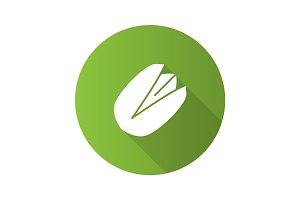 Pistachio flat design long shadow glyph icon