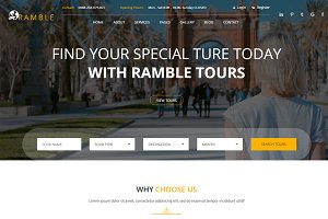 Ramble - Tour & Travel HTML Template