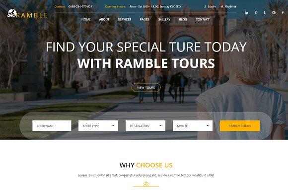 Ramble Tour Travel HTML Template