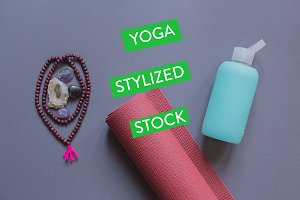Savasana Styled Stock Yoga