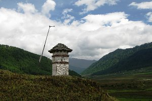 Landscape of Phobjikha valley