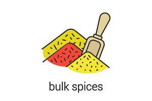 Bulk spices color icon