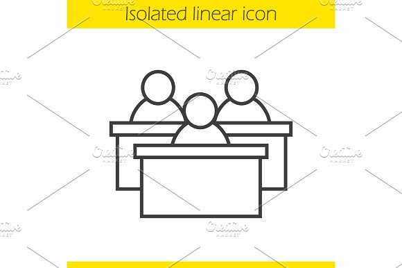Audience linear icon