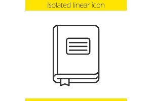 Diary notebook linear icon