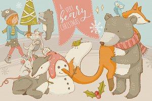 a very beary christmas graphics
