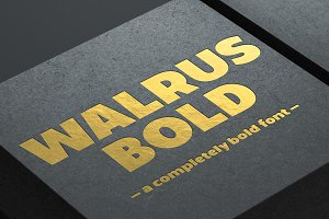 Walrus Bold font (OpenType version)