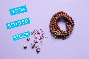 Purple Yoga Styled Stock Collection