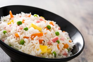 Chinese fried rice with vegetable
