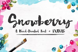 Snowberry - A Hand Painted Font