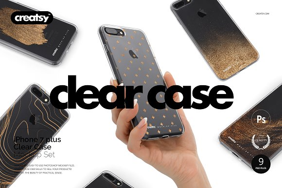 Download iPhone 7 Plus Clear Case Mockup Set